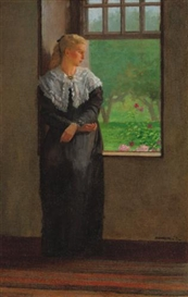 Artwork by Winslow Homer, Reverie, Made of oil on canvas