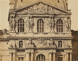 Artwork by Édouard-Denis Baldus, PAVILLON RICHELIEU, NOUVEAU LOUVRE, PARIS, Made of Salt print