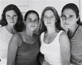 Artwork by Nicholas Nixon, THE BROWN SISTERS (HEATHER BROWN, MIMI BROWN, BEBE BROWN NIXON AND LAURIE BROWN, HARWICH PORT, MASSACHUSETTS), Made of Gelatin silver print
