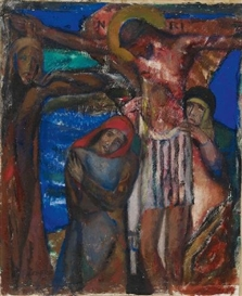 Artwork by Josef Eberz, KREUZIGUNG, Made of Oil on canvas