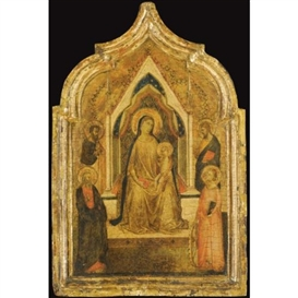 Artwork by Bernardo Daddi, The Madonna and Child, Made of tempera on panel, gold ground