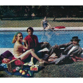 Artwork by Alain G. F. Jacquet, Le déjeuner sur l'herbe, Made of silkscreen ink on canvas