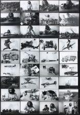 Artwork by Gérard Gasiorowski, LES HORREURS DE LA GUERRE, Made of Black and white photo montage