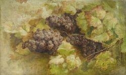 Artwork by Giovanni Segantini, Still life with grapes, Made of Oil on canvas