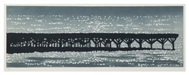 Artwork by Richard Bosman, Jetty, Made of woodcut