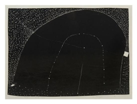 Artwork by Martin Puryear, Dark Loop, Made of woodblock