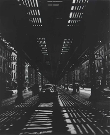 Artwork by Umbo, New York, Third Avenue, Made of gelatin silver print