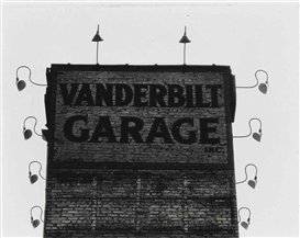 Artwork by Ralph Steiner, Vanderbilt Garage, Made of gelatin silver print