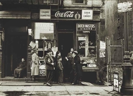 Artwork by Walter Rosenblum, Two works : Candy Store; Pitt Street, N.Y., Made of gelatin silver prints