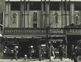 Artwork by Todd Webb, Sixth Avenue near 45th Street, New York, Made of gelatin silver print