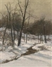 August Fink, Landscape with Stream in Winter