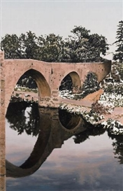 Artwork by Andreas Schön, BRÜCKE I (BRIDGE I), Made of Oil on canvas