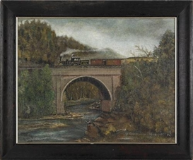 Artwork by John Kane, Conemaugh Viaduct, PA, Made of Oil on canvas