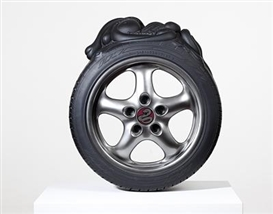 Artwork by Patricia Piccinini, Radial, Made of fibreglass, automotive paint, stainless steel