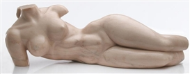 Artwork by Charles Umlauf, Nude, Made of Rose marble