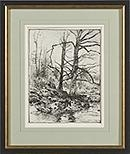 Artwork by Arthur Parton, A Veteran of the Woods, Made of Pen and ink
