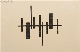 Artwork by Carel Visser, Composition, Made of Woodcut