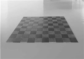 Artwork by Carl Andre, Steel-Lead Alloy Square, Made of steel and lead