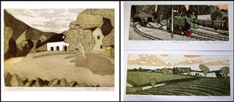 3 works: Ty Uchat; Longleat Railway; Leiston Priory By John Brunsdon