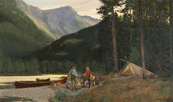 Camp on the Flathead By Brett James Smith