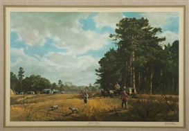 Artwork by Odgen M. Pleissner, Quail Hunters, Made of Print