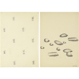 Artwork by Rolf Walz, 3 works: untitled, Made of works on paper