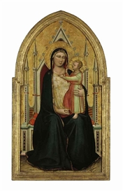 Bernardo Daddi, The Madonna and Child enthroned