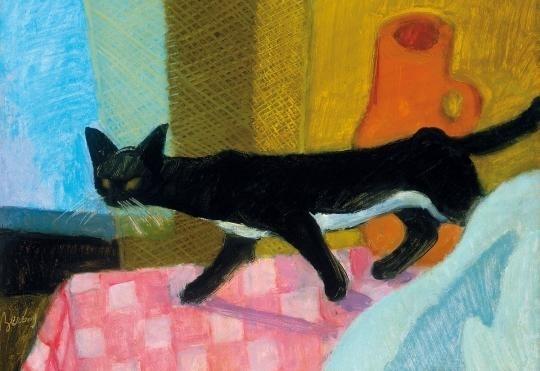 Bereny Robert Still Life With Cat 1929 1930 Mutualart