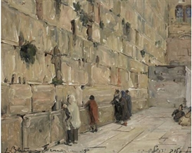 Artwork by Ludwig Blum, The Western Wall, Made of oil on canvas
