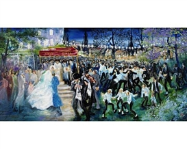 Artwork by Huvy, Jerusalem wedding, Made of oil on canvas