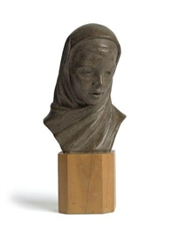 Artwork by Richmond Barthé, Black Madonna, Made of Painted terra cotta