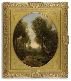 Artwork by Robert S. Duncanson, Untitled (Woodland Scene), Made of Oil on canvas
