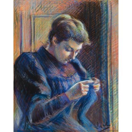 Artwork by Maximilien Luce, Portrait de Madame Berthier, Made of Pastel on paper