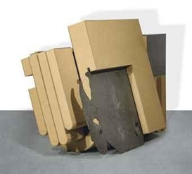 Artwork by Harald Klingelhöller, Schlaf tief (Sleep Deeply), Made of cardboard, iron, steel and graphite