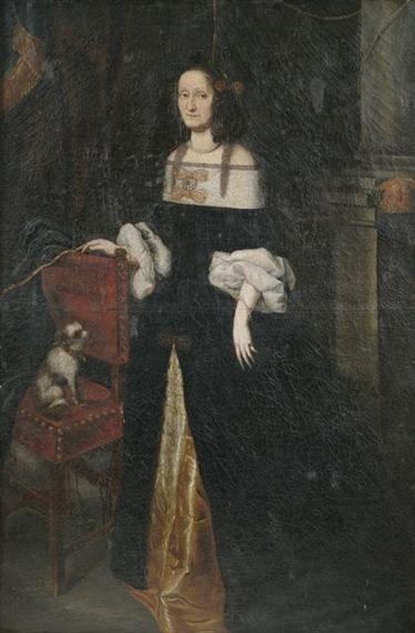 Artwork By Austrian School 17th Century Portrait Of A Lady As Full Figure
