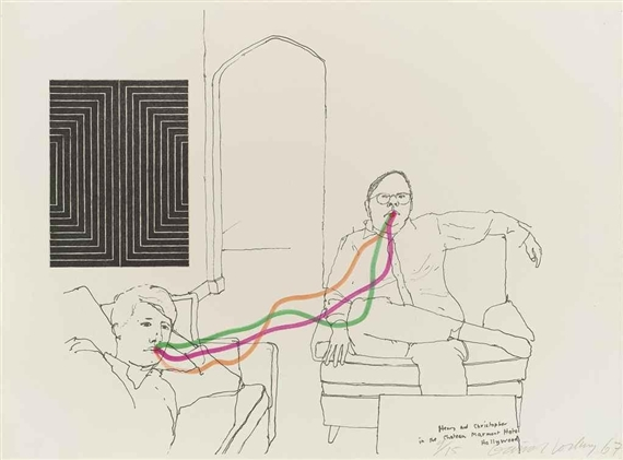David hockney henry and christopher 1967 for Stalla ovini dwg