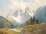 Artwork by Hans Steiner, Alpine landscape, Made of Oil on canvas