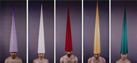Artwork by Marina Abramović, Human Receivers (5), Made of colour photographs