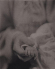 Artwork by Jan Groover, UNTITLED (HOLDING BABY'S HAND), Made of Platinum palladium print
