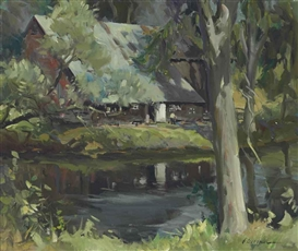 Artwork by Odgen M. Pleissner, Spring in Vermont, Made of oil on canvas