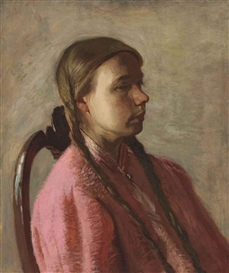 Artwork by Thomas Eakins, Betty Reynolds, Made of oil on canvas
