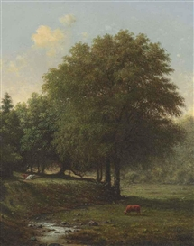 Artwork by Martin Johnson Heade, Cattle in a Landscape, Made of oil on canvas