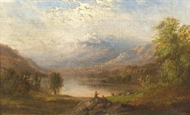 Artwork by Robert S. Duncanson, The Apennines, Italy, Made of oil on canvas