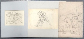 Artwork by Hyman Bloom, 4 Works: Drawings on Paper, Made of Pencil drawing, charcoal