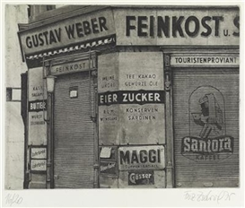 Artwork by Franz Zadrazil, Gustav Weber, Feinkost, Made of etching