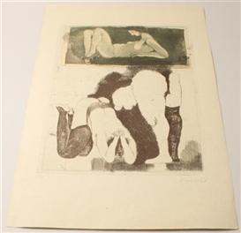 Artwork by Adolf Frohner, Das grosse Vorbild, Made of etching