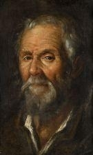 Artwork by Francisco Pacheco, Tête de vieil homme, Made of oil on canvas