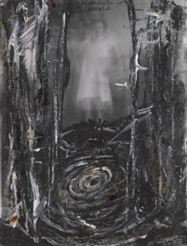 Artwork by Anselm Kiefer, Gilgamesch im Zedernwald, Made of acrylic and emulsion on photograph