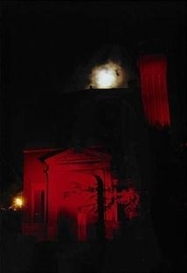 Artwork by Carl Michael von Hausswolff, Church - ur serien Red Empty, Chicago, Made of Cibachrome