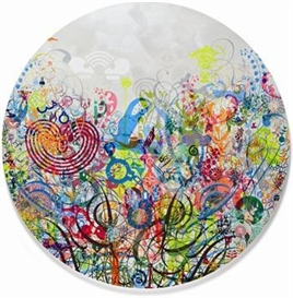 Artwork by Ryan McGinness, Panex, Made of acrylic on canvas laid on panel